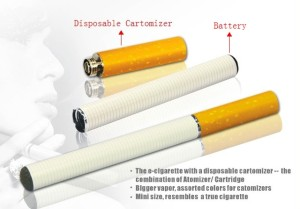 "2 Piece or ""Cigalike"" Electronic Cigarette -Detail"